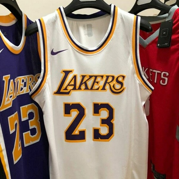 f9ac49ff Shirts | Lakers 23 Lebronjames White Dry Fit Jersey | Poshmark